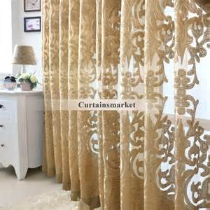 Curtain Color Matching by Beautiful Yarn Patterned Semi Dark Gold Sheer Curtains
