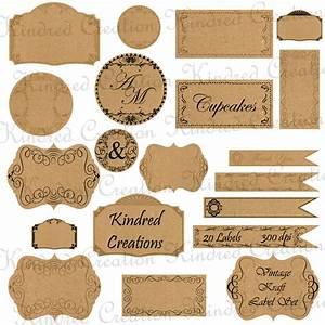 Vintage Kraft Labels