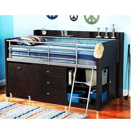 walmart loft bed with desk charleston storage loft bed with desk espresso walmart