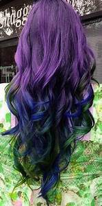 purple hair blue green tips - Hairstyles and Beauty Tips ...