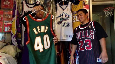 NBA Jersey Collection Vintage Throwback Rare - YouTube