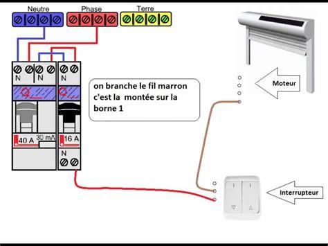 schema electrique dun volet roulant youtube
