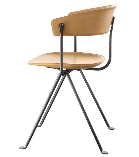chaise magis officina magis chair in hide leather milia shop