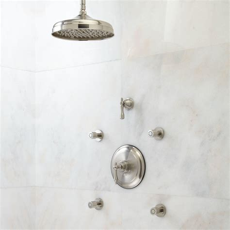 glenley pressure balance shower set  rainfall shower