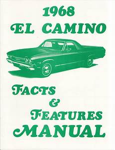1968 Chevelle Wiring Diagram Manual Reprint Malibu  Ss  El Camino