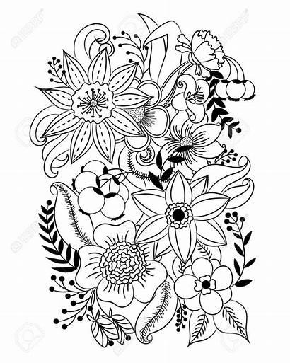 Coloriage Fleurs Coloring Flowers Dessin Fleur Flores