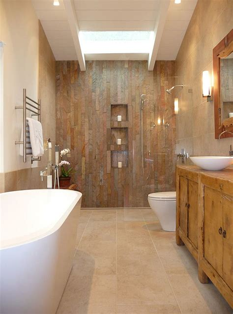 charming  natural rustic bathroom design ideas