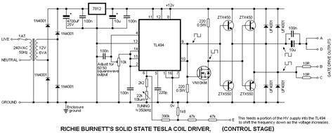 solid state tesla coil project tl pwm high voltage