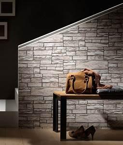 Tapeten Mit Steinmuster : tapete naturstein 2 56 m 3d vliestapete stein in 3 farbvarianten ebay ~ Markanthonyermac.com Haus und Dekorationen