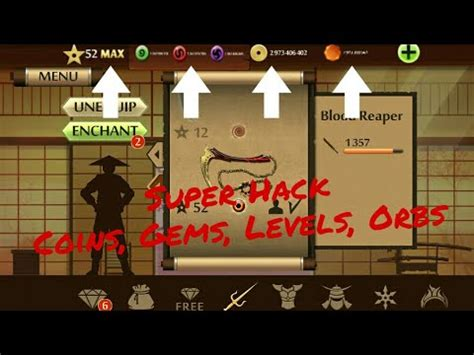 shadow fight 2 hack coins gems orbs level 52 use gameguardian new only root