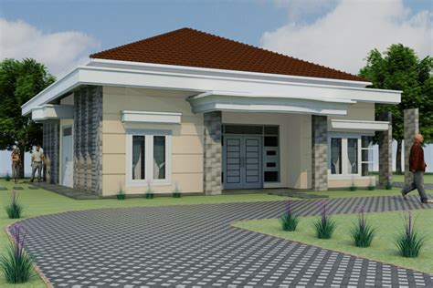 desain depan rumah minimalis sederhana gambar om