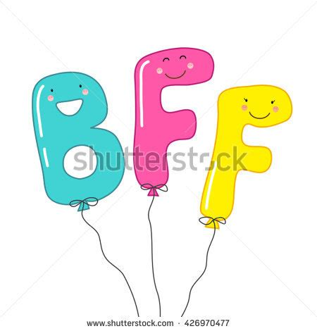 we sign our cards and letters bff balloons smiling characters letters stock 50002
