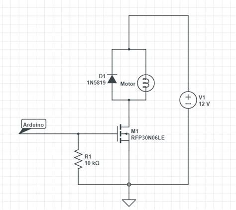 Arduino Transistor Turn Amp Motor Off