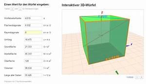 Kantenlänge Eines Würfels Berechnen : kantenl ngen fl chendiagonale und raumdiagonale im w rfel berechnen mathelounge ~ Themetempest.com Abrechnung
