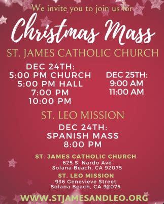 christmas mass st james catholic church st leo