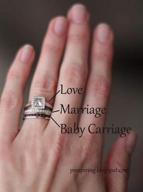 a band with baby s birthstone to wear under your wedding