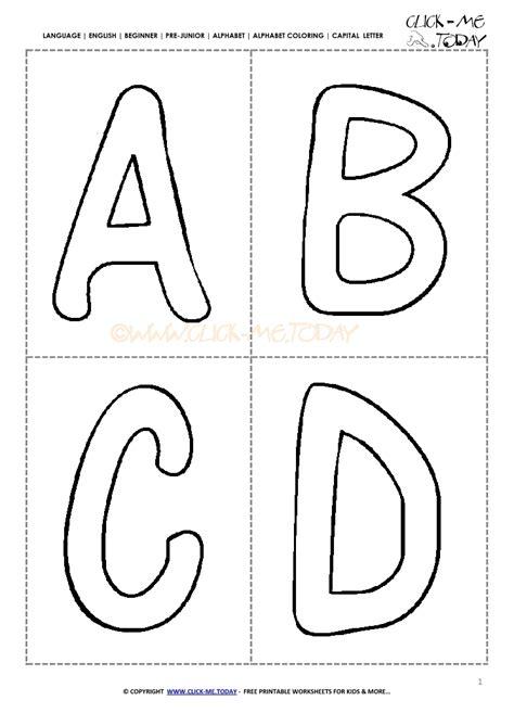 alphabet capital letters cards preschool abcd