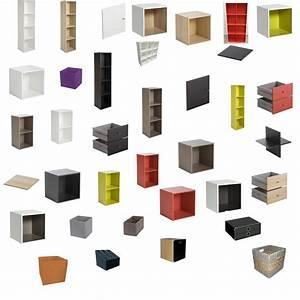 Caisson Bibliotheque Modulable : biblioth que multikaz en cubes multicolore notre maison ~ Edinachiropracticcenter.com Idées de Décoration