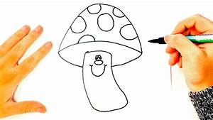 How to draw a Mushroom for Kids | Mushroom Easy Draw ...