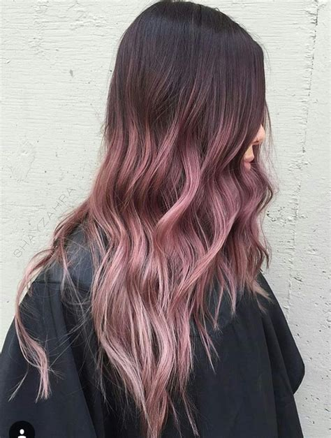 Beautiful Ombré Pinkish Rose Gold Hair Pinterest
