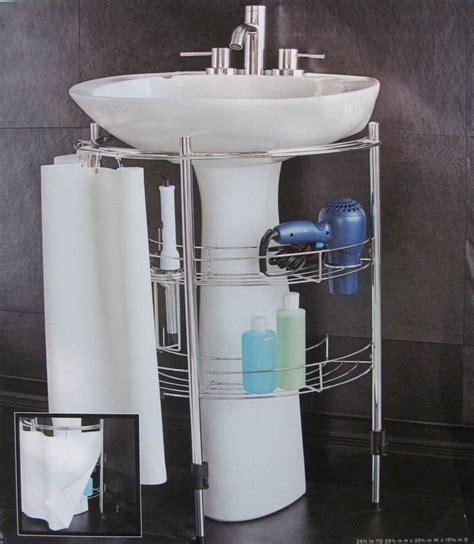 pedestal sink storage solutions amazon com under pedestal sink storage home kitchen
