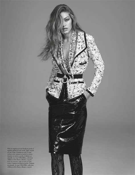 Gigi Hadid Works It in Chanel Looks for Vogue Paris ...