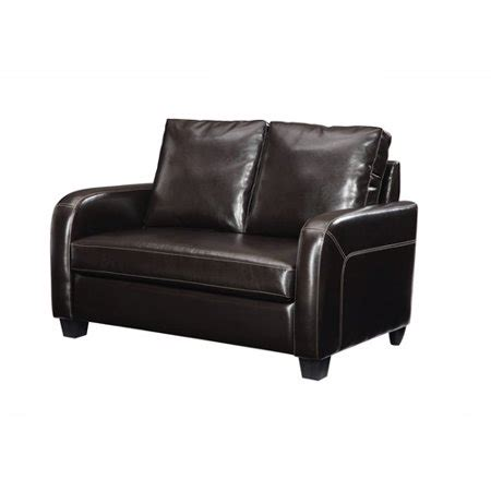 Leather Loveseat Sleeper Sofa by Dorel Home Sleeper Sofa Espresso Faux Leather