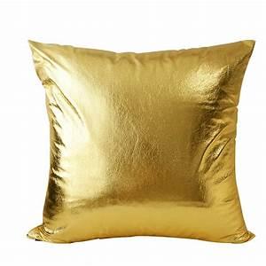 Modern fashion soft pu gold shining bling decorative for Cheap european pillows