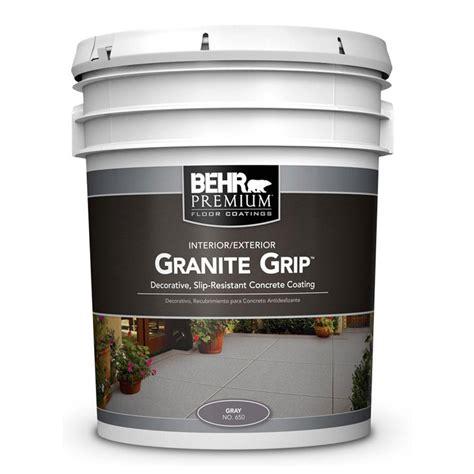 behr 5 gal 65005 gray granite grip interior exterior