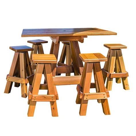 gronomics 6 person picnic table bar top 39 x 59 x 42