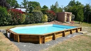 Piscine Semi Enterré Bois : piscine bois semi octogonale difloisirs piscine bois ~ Premium-room.com Idées de Décoration