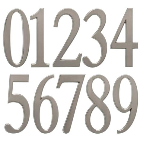Designit 475 Inch Numbers  Brushed Nickel In House Numbers