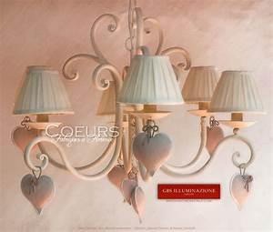 Lustre En Fer Forgé : lustre 6 coeurs lumi re en fer forg gbs illuminazione ~ Dailycaller-alerts.com Idées de Décoration