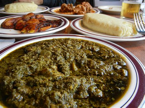 traditional cuisine recipes traditional congolese meal fufu casava leaf stew