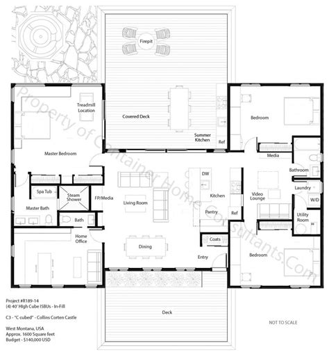 4 bedroom ranch floor plans 3 shipping container house plans 3 bedroom container