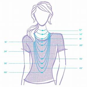 Necklace Length Chart For Easy Reference New On The Blog