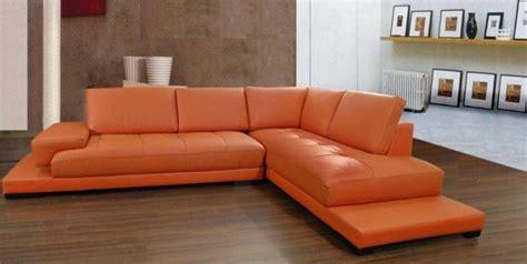 canapé cuir orange 25 idées de meubles en cuir pour votre intérieur
