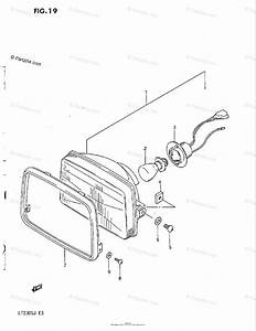 Suzuki Atv 1985 Oem Parts Diagram For Headlamp  Model F  G