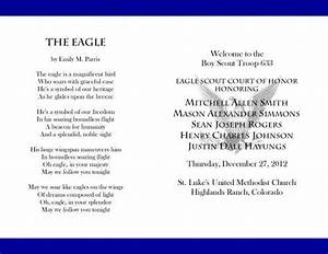 17 best images about bs eagle coh invites programs With eagle scout court of honor program template