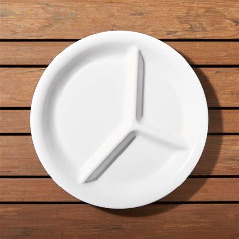white melamine divided plate crate  barrel