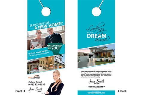 real estate door hangers real estate door hanger template realtor estate door