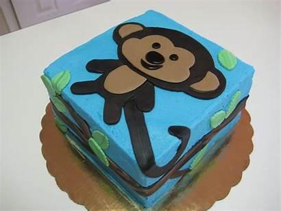 Monkey Cake Cakes Birthday Shower Fondant January