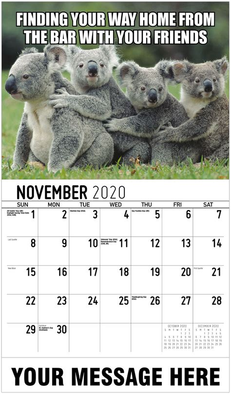 promotional advertising calendar memeing life
