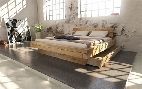 einrichten mit holz schlafzimmer einrichten mit holz bett11