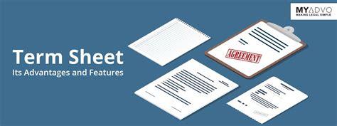 term sheet  startups concept template format