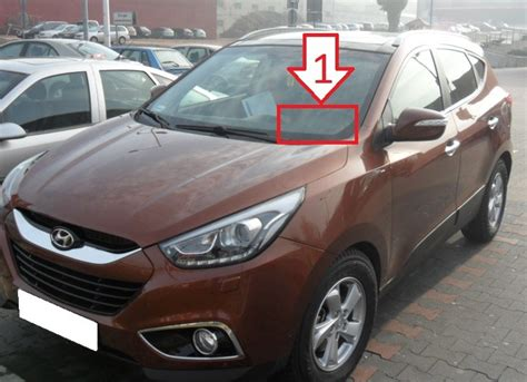 hyundai ix35 2013 2015 where is vin number find