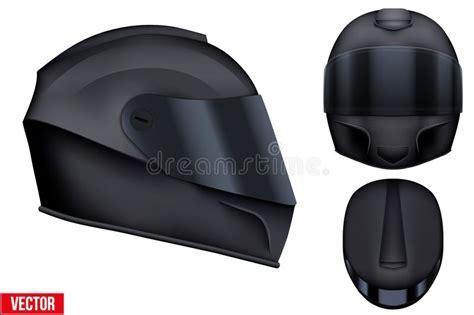 Motor Racing Helmet With Glass Visor. Stock Vector