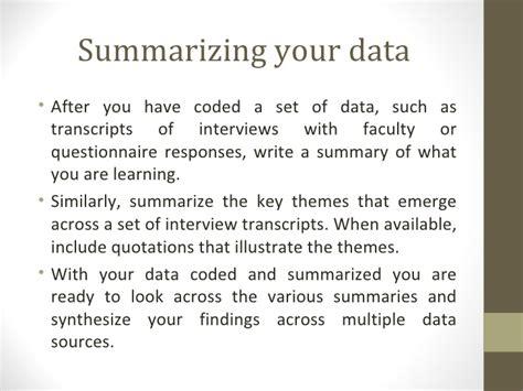 data analysis qualitative data presentation 2