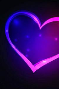 Blue and Purple Heart | Wallpaper Backgrounds for ...