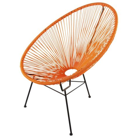 siege maison du monde fauteuil de jardin rond orange copacabana maisons du monde